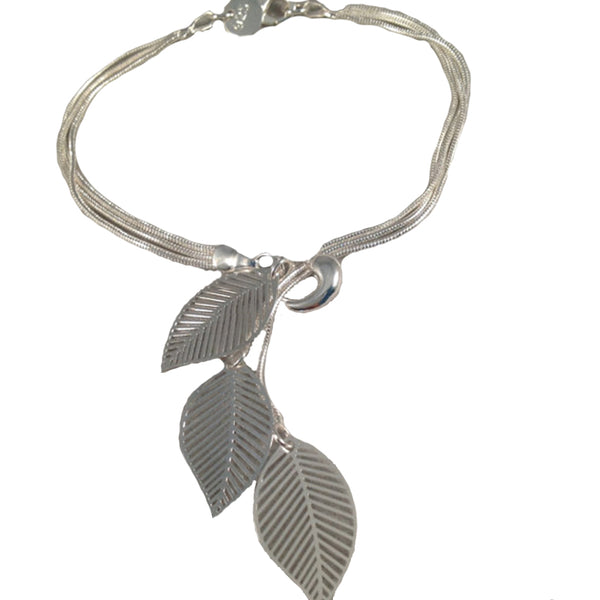 Mujeres Hojas Pulseras Delicadas Hollowed-out Leaf Bangle Party Accesorios