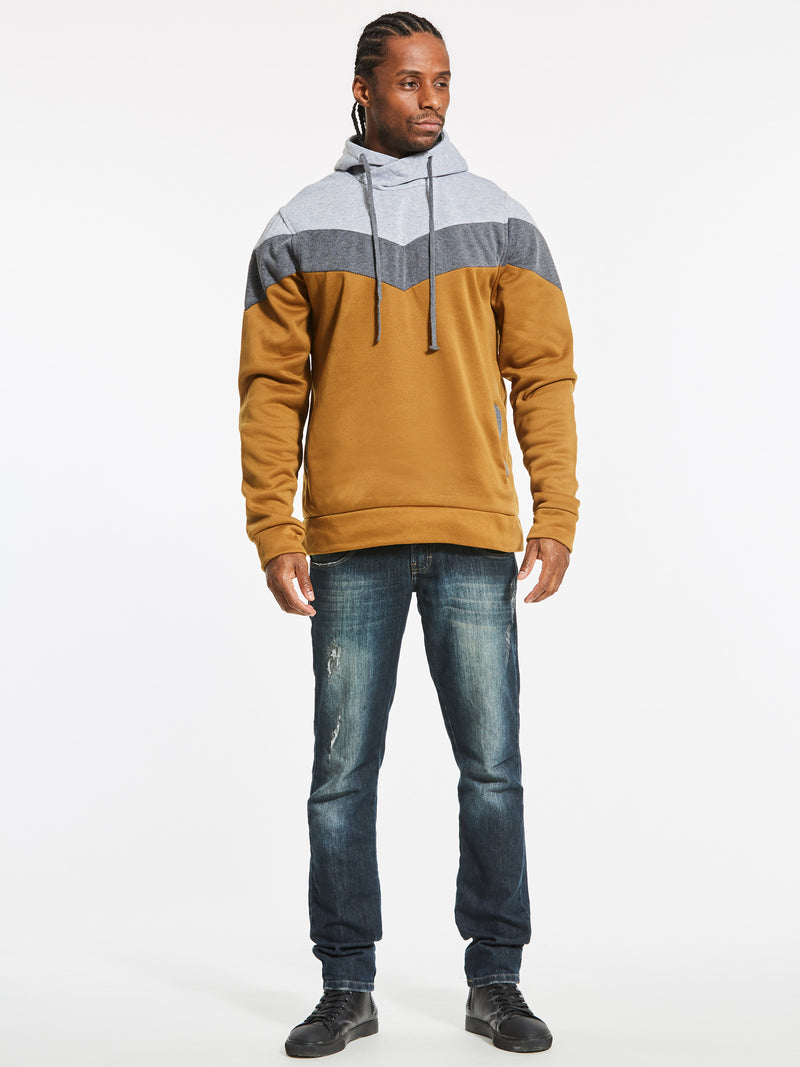 Sudadera con capucha Patchwork Color Block Slim Fit para hombre