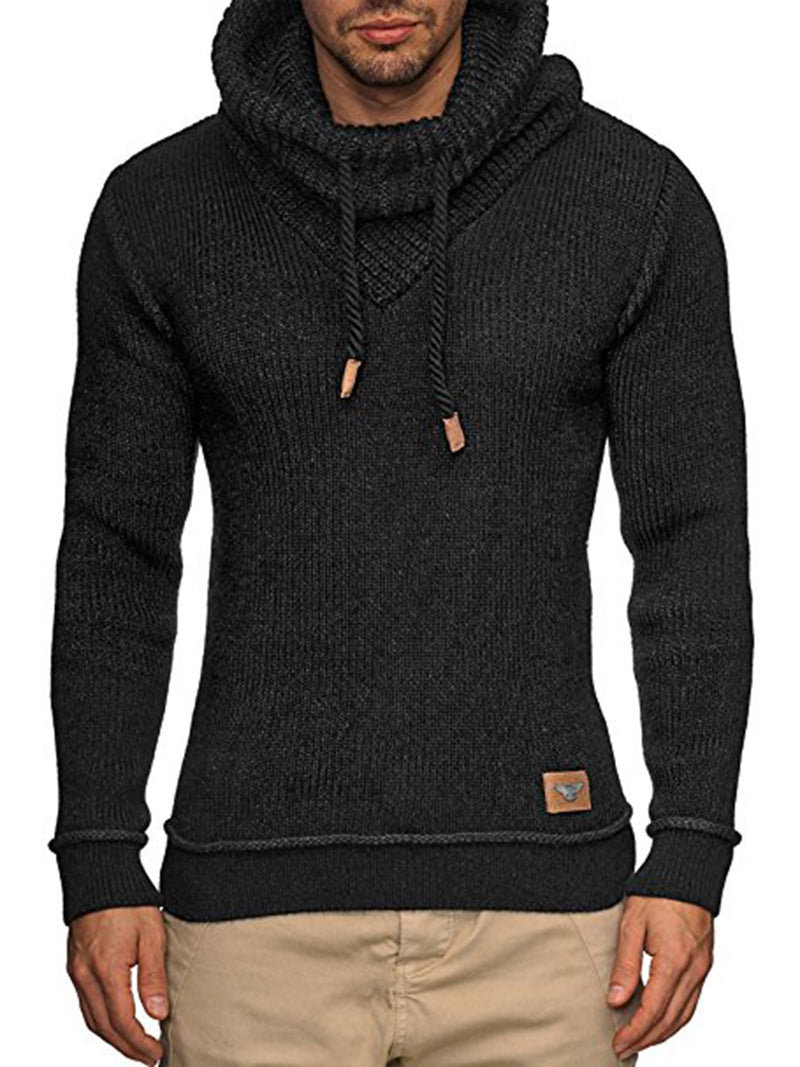 Heap Kragen Lace-Up Slim Fit Herren Pullover Pullover