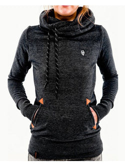 Autumn Fashion Zipper Pocket Hoodie Sweatshirt Dress