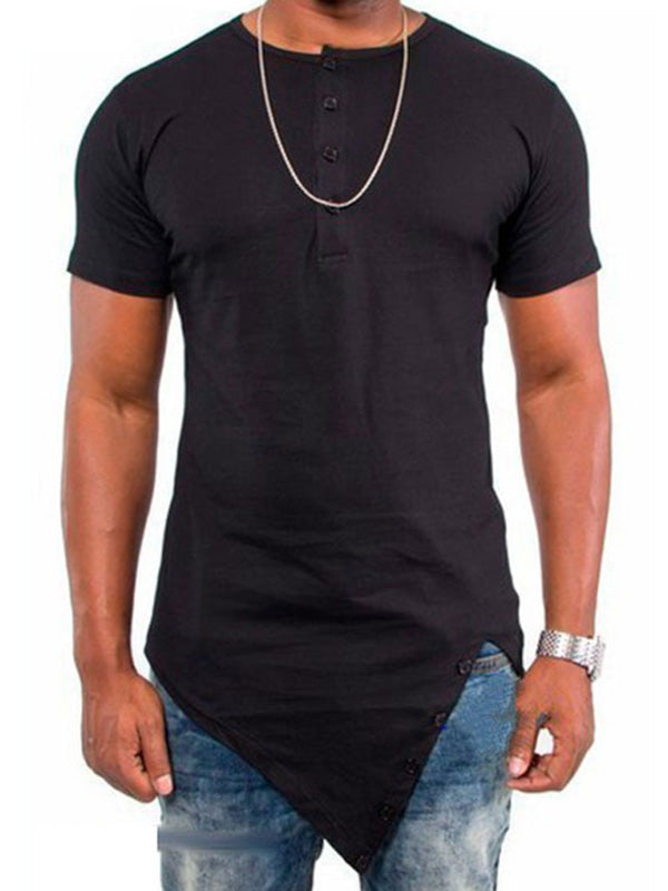Casual Iregular Short Sleeve Men's Sports T-Shirt