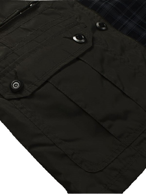 Trench da uomo Stand Collar Hidden Zipper Slim da uomo
