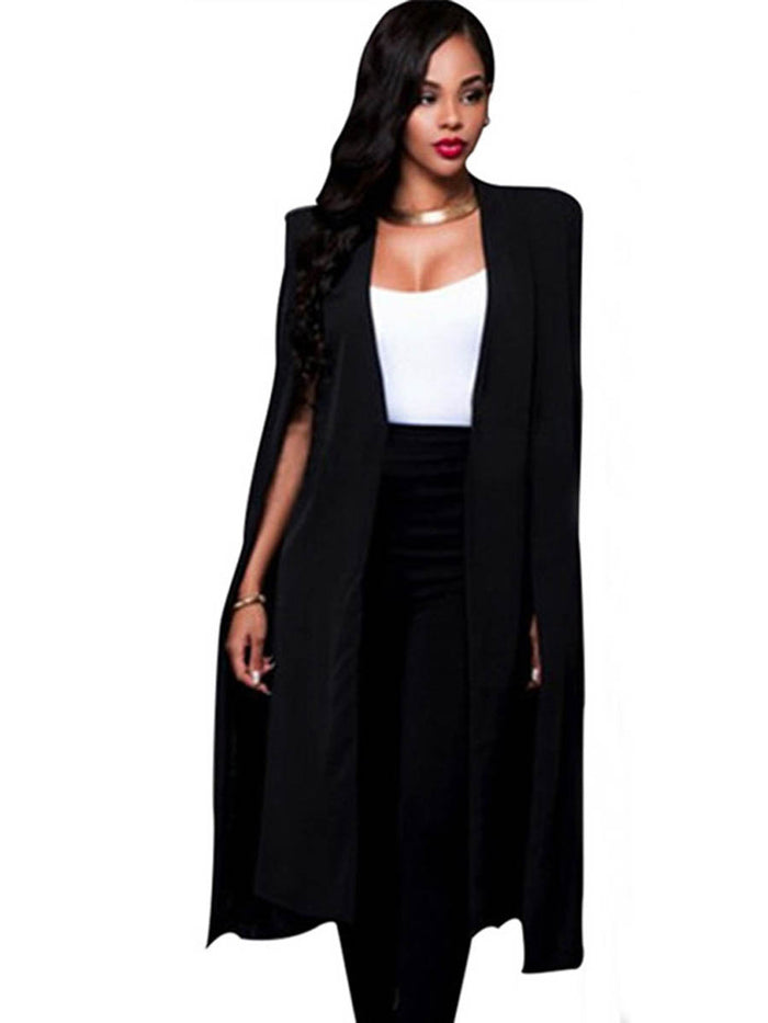 Fashion Shawl Pattern Long Loose Cardigan Women's Blazer