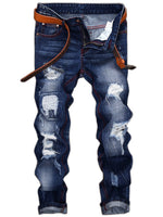 Denim Holes Casual Street Style Men's Pants