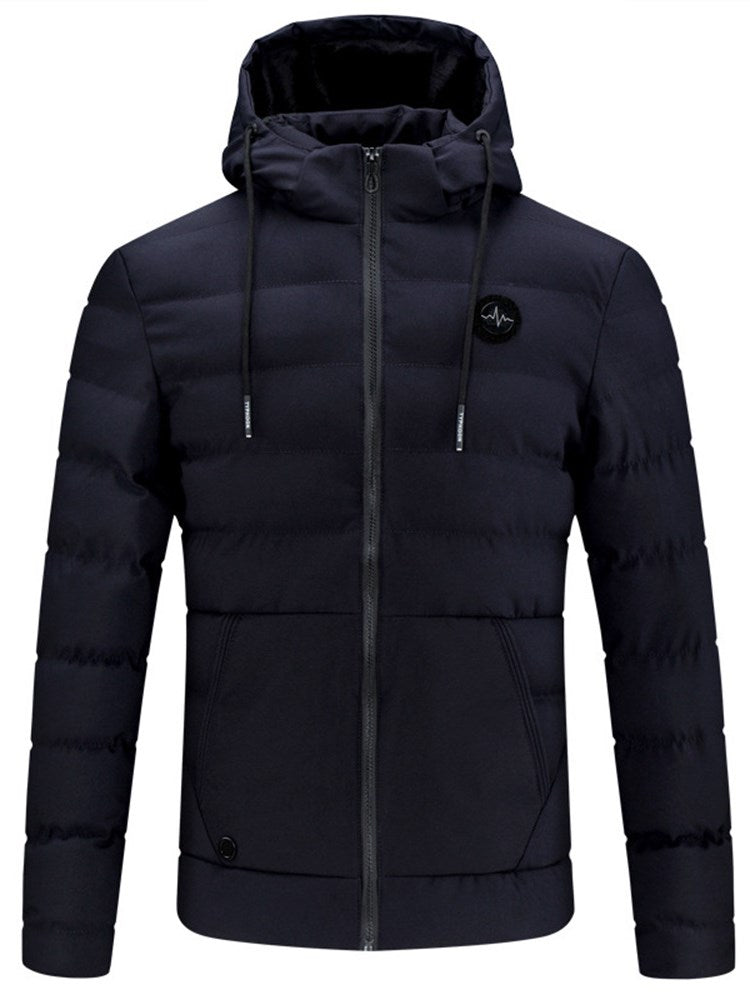 European Plain Stand Collar Slim Fit Men's Down Jacket
