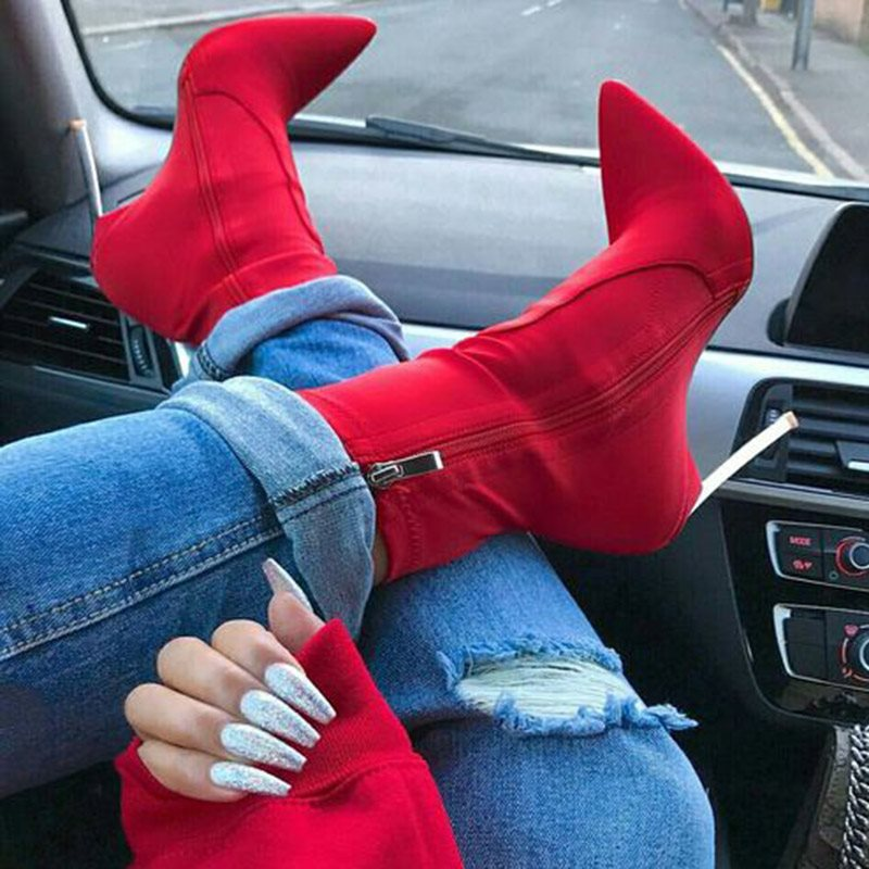 Pointed Toe Stiletto Heel Women's Boots