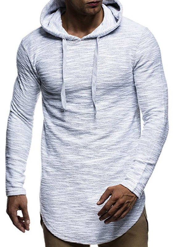 Mid-Length Single Slim Pullover Men's Hoodie