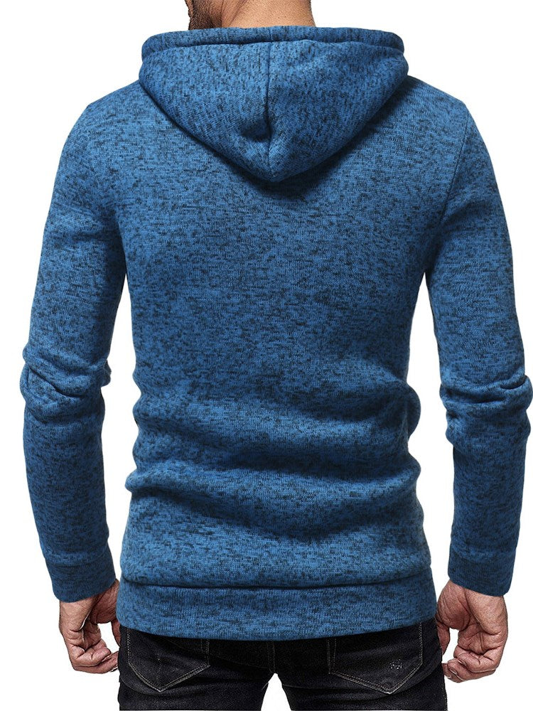 Pure Color Hooded Slim Hoodie für Männer