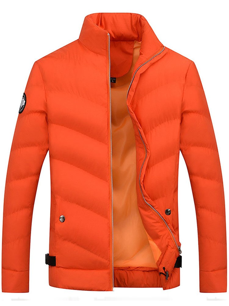 Simple Stand Collar Slim Men's Down Jacket