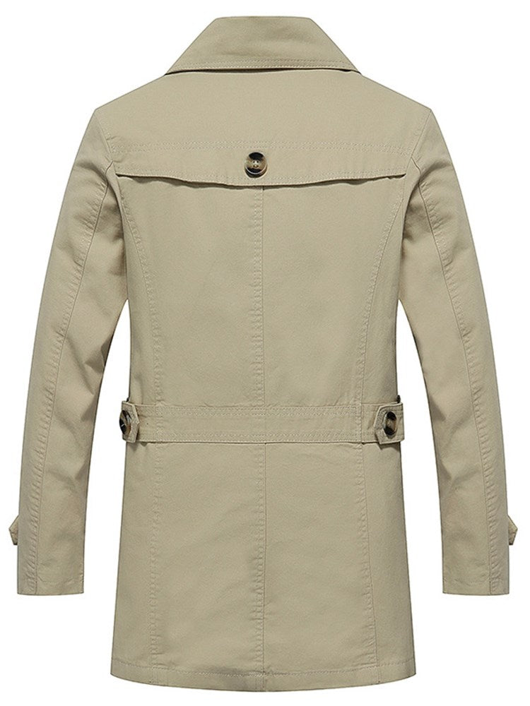 Trench-coat simple boutonnage Homme