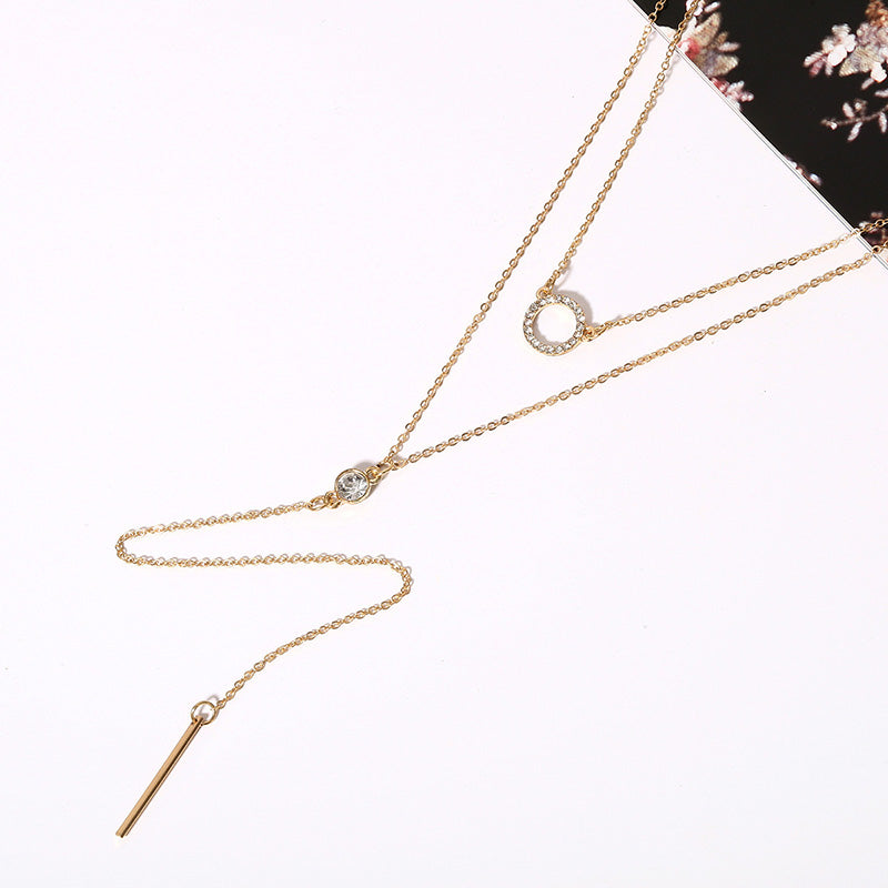 Clavicle Sweater Chain Multi-Layer Necklace