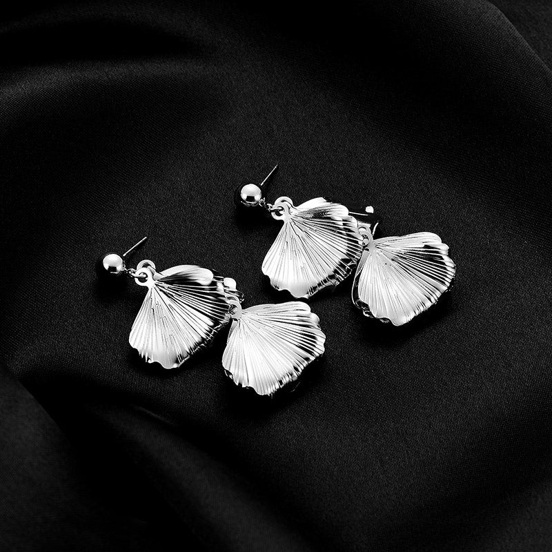 Personalized Ginkgo Leaf Metal Earrings