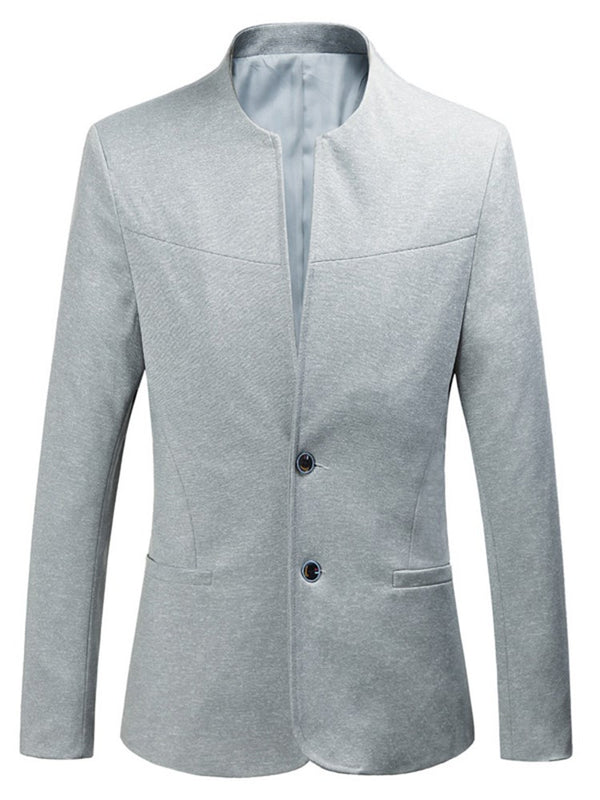 Blazer casual da uomo a due bottoni slim color plain collar