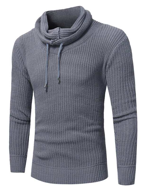 Pull col rond hommes solides