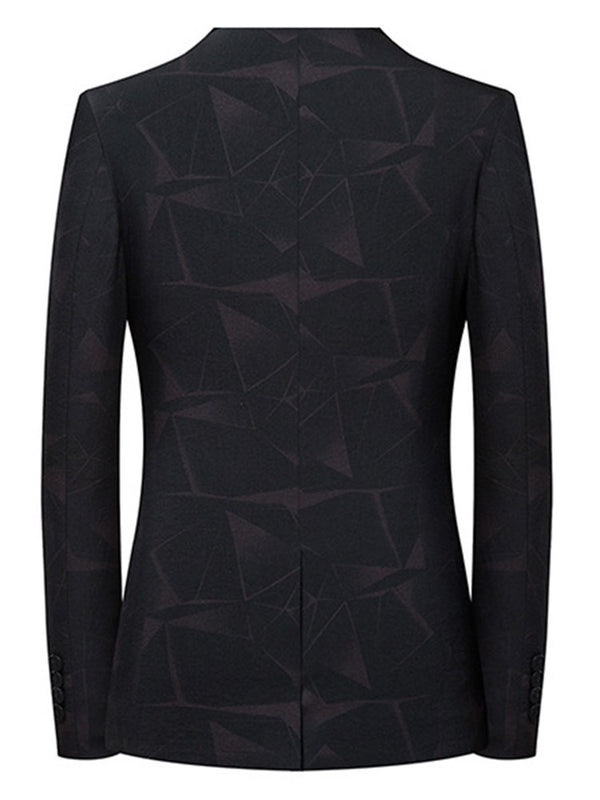 Hebedress One Button Printed Plain Blazer Casual pour hommes d'affaires