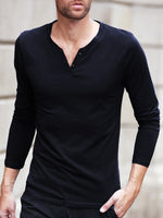 Men's Slim Solid Color T-shirt