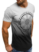 Round Neck Letter Print Short Sleeve Men's T-shirt