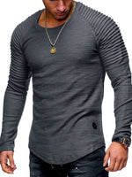 Men's Long Sleeve Pure Color Men's T-shirt
