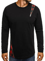 Spring Long Sleeve Loose Men's T shirt