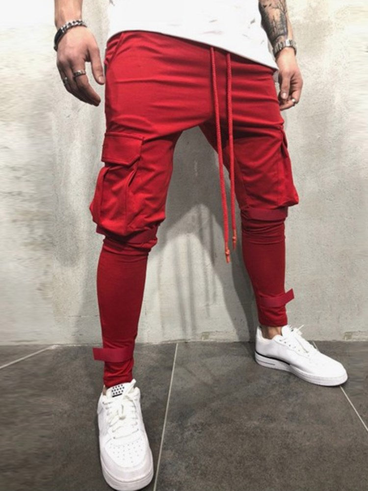 Mid-Waist Hip Hop Style Men's Casual Pants