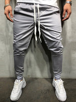 Olive Plain Lace Up Slim Mens Casual Sports Pencil Pants