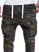 Camouflage Splicing Men's Casual Pants