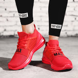Solid Color Lace-Up Front Mesh Men's Sneakers