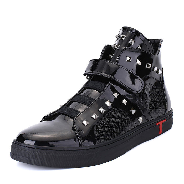 Rivet Velcro High Upper Men's Sneakers