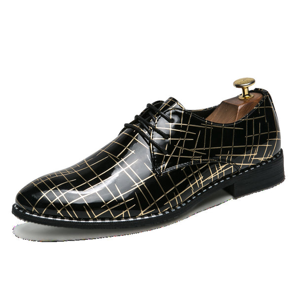 PU Lace-Up Dress Shoes For Men