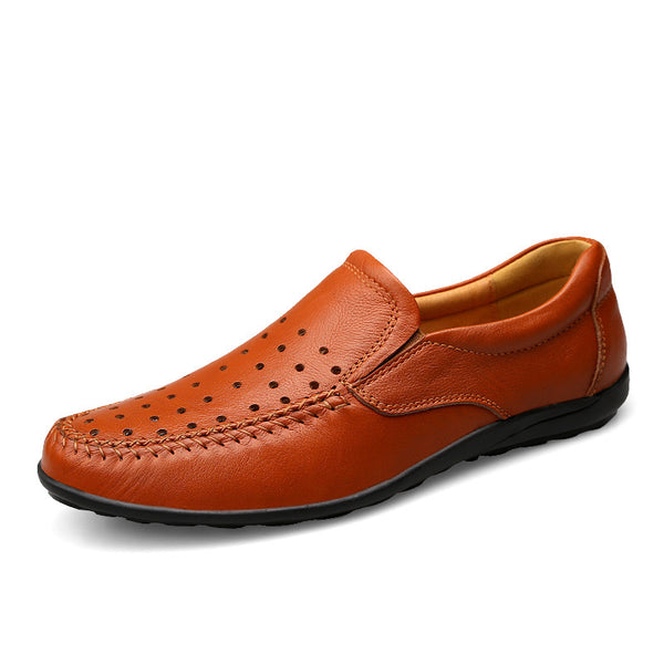 Slip-On Hollow PU Plain Men's Oxfords