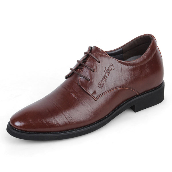 Men's Block Heel Professional Plain Oxfords
