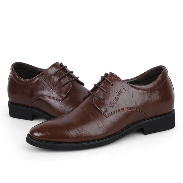 Round Toe PU Business Casual Men's Oxfords