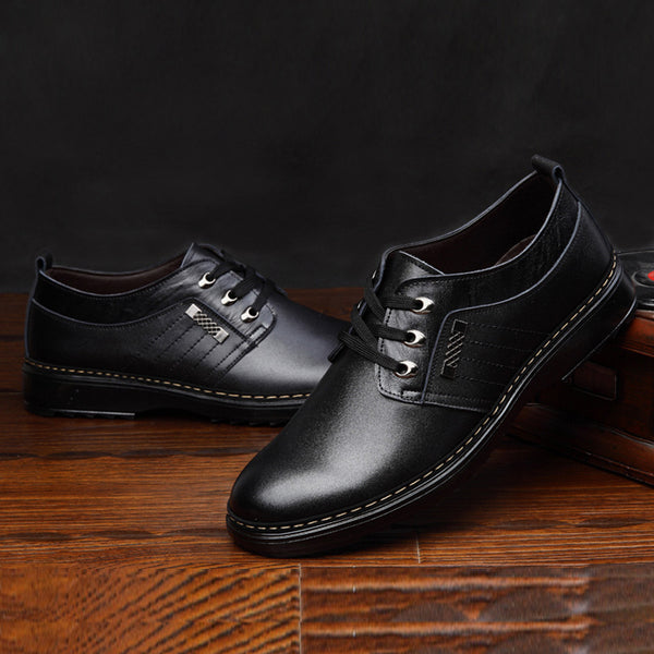 Oxfords da uomo tomaia low-cut in tinta unita nero