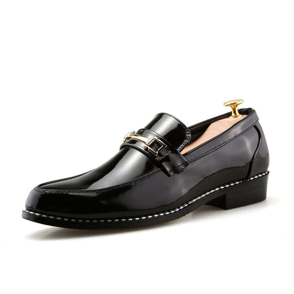 Hebedress Casual Round Toe Men's PU Shoes