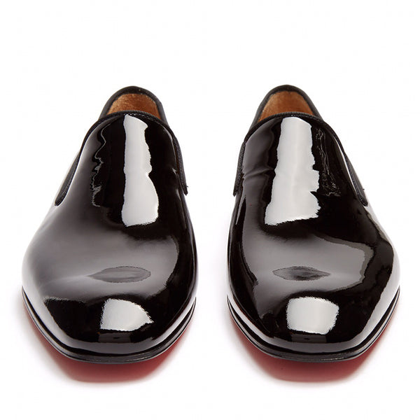 Patent Leather Slip-On Plain Men's Oxfords