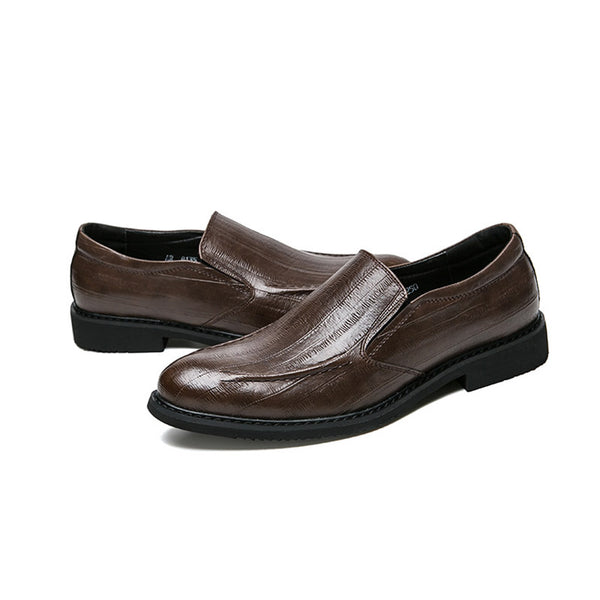 All Match Round Toe Plain Dress Shoes for Men