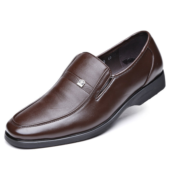 PU Slip-On Low-Cut Upper Plain Dress Shoes