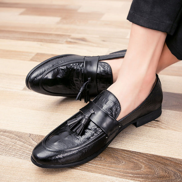 Hebedress Casual Croco Tassels Men's Oxfords