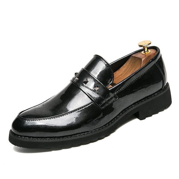 Rivet Patent Leather All Match Men's Dress Shoes