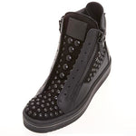 Chic Rivet Side Zipper Men's Martin Boots