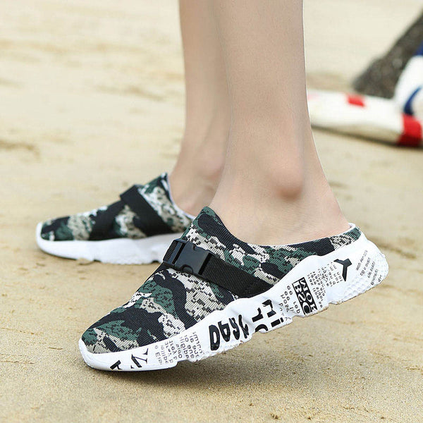 Camouflage Slip-On Casual Mules Chaussures
