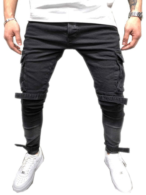 European Worn Micro-Elastic Slim Fit Men's Pencil Jeans