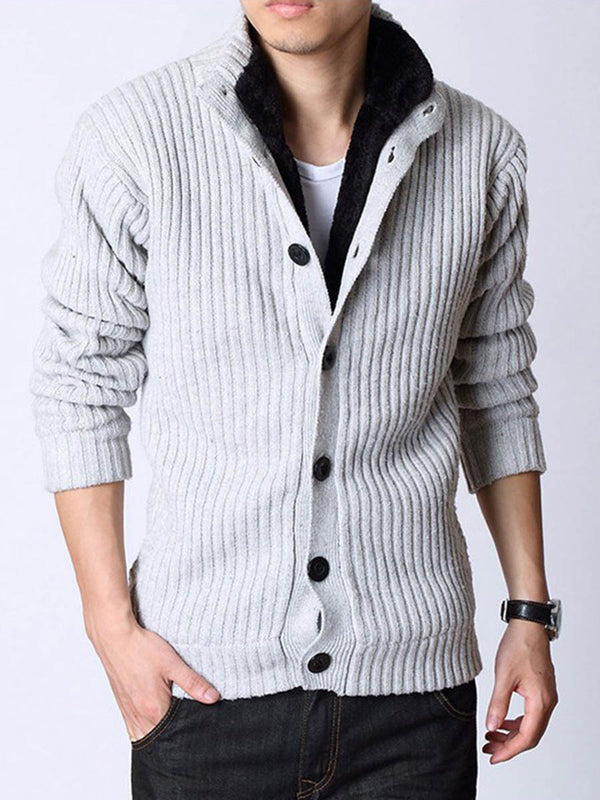 Col montant flocage cardigan chandail simple boutonnage