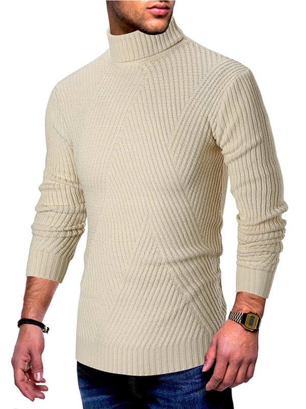 Long Sleeve Slim Fit Turtleneck Winter Men's Sweater