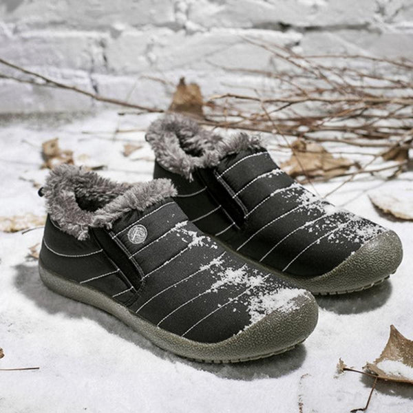 Plus Size Unisex impermeabile fodera in pelliccia Slip On Snow Boots