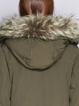 Big Faux Fur Hooded Thick Winter Cotton Coat