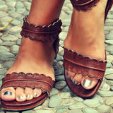 Open Toe Cute Summer Flat Sandals