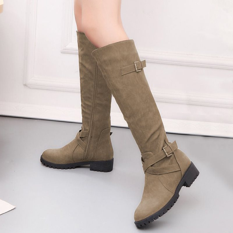 Women Leather Boots High Boots Martin Boots