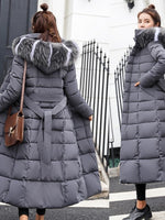 Winter Women's Down Coat 2018 New Clothes Cotton-Padded Thickening Down Winter Coat Long Jacket Down Parka Plus Size M-3XL