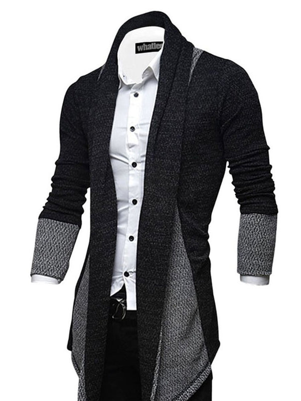 Irregular Length Slim Men's Cardigan Sweater